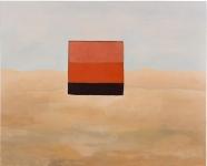 <b>Diálogo con Palermo en los alrededores del Cusco</b>, Acrylic painting, 127 x 150 cm, 2009