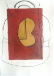 Germinación - Acrylic and charcoal on canvas, 50 x 70 cm, Mónica Luza 2021