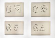 La Cartilla - Embroidered drawings, 50 x 70 cm each, Monica Luza 2009